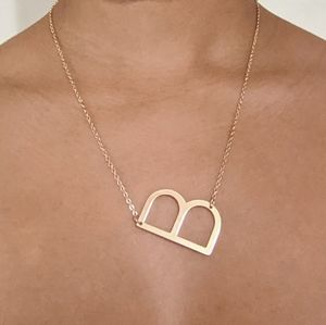 Initial Necklace Letter B